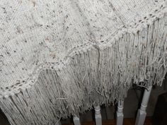 Hand Crafted Cable Knitted AfghanShabby Chic by TattooedTextiles