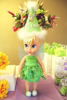 Tinkerbell Birthday Party decorations! See more party planning ideas at CatchMyParty.com!