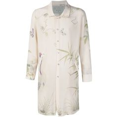 By Walid floral print long shirt ($1,180) ❤ liked on Polyvore featuring men's fashion, men's clothing, men's shirts, men's casual shirts, white, mens print shirts, mens long sleeve floral shirt, mens silk shirt, mens floral print shirts and mens long sleeve silk shirt