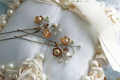 Bridal Hair Pins Gold Tone Bridal Hairpins Wedding Hair