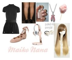 """""""Maiko Nana (vocaloid {number: 53)"""" by kitty7082 ❤ liked on Polyvore featuring Ballet Beautiful, Chicwish, Essie, L. Erickson and Steel City"""