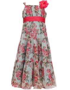 MONSOON Nancy Floral Tiered Dress with removable corsage.  $80