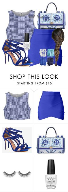 """""""Untitled #474"""" by sara-bitch1 ❤ liked on Polyvore featuring Alice + Olivia, Ted Baker, Dolce&Gabbana, Sephora Collection, OPI and Illamasqua"""