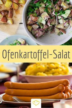 Für die meisten Deutschen heißt es an Weihnachten: Würstchen und Kartoffelsalat. Wie wäre es dieses Jahr mal mit einem Salat aus im Ofen gerösteten Kartoffeln und einem leichten Zitronen-Joghurt-Dressing?