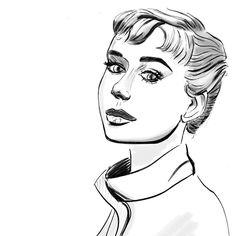 "Fashion Illustration na Instagramu: ""Portretova ilustrace, ktera mi nasadila brouka do hlavy. Premyslim zas nad ofinkou🙈😄…"" Art, Art Background, Kunst, Art Education"