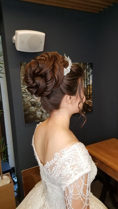 Gelin topuz modelleri sayfamıza bekleriz Lace Wedding, Wedding Dresses, Bride Hairstyles, Backless, Instagram, Hair Styles, Girls, Fashion, Dress Wedding