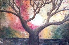 """MOON SHINE Acrylic on canvas 91cmx61cm (36""""x24"""") $400"""