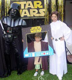 Personajes de Star wars: Princesa Leia y Darth Vader para Photocall, fiestas infantiles, eventos de adultos. Comunión, Boda, Cumpleaños