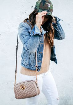 d1b9d0c5c051 haute off the rack, women's fashion, white jeans, denim jacket, spring style