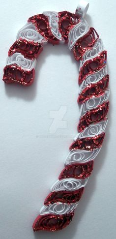 Paper Quilling Candy Cane - Christmas ornament by wholedwarf on ...
