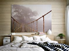 bedroom art. Wall treatment