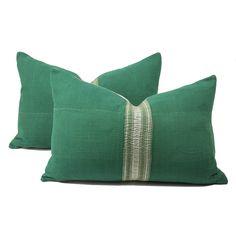 Vintage Emerald Jaipur Pillow