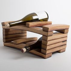Napa Barrel Stave 6-Bottle Wine Rack