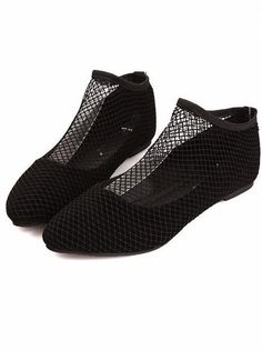 Hot New Black Netting Flat Shoes ($8.00) - Svpply