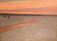 """Sunrise - A Break in the Ice,"" Birge Harrison, oil on canvas, 17 1/8 x 23"", private collection."