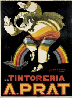 "Vintage Italian Posters ~ #illustrator #Italian #posters ~ ""Tintoreria"" by Luciano Achille Mauzan, 1927."
