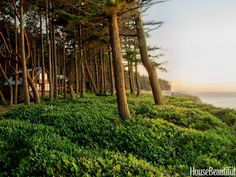 The house overlooks the Strait of Juan de Fuca, northwest of Seattle, from a lush ledge on the Olympic Peninsula.
