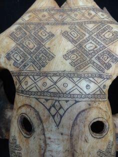 Scrimshaw Skull Mask necklace Belu Atoni great gift idea Timor Tetum Tribal Art #Atonitribalhighlands