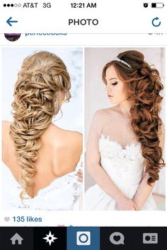 Wedding hair, just with tiara and veil