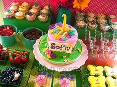 Garden themed dessert table - fantastic!