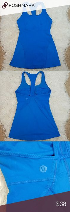 LULULEMON Blue Built in Bra Top tank LULULEMON Blue Built in Bra Top tank. Excellent condition.   Size 4 lululemon athletica Tops