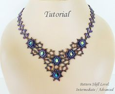 MIST beaded necklace beading tutorial beadweaving pattern seed
