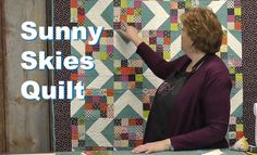 http://missouriquiltco.com -- Jenny Doan shows how to make the beautiful, yet simple Sunny Skies quilt designed by her daughter Natalie. This quilt is featur...