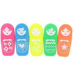 Paperchase Russian Dolls Highlighters: Amazon.co.uk: Office Products
