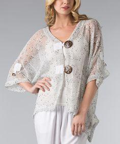 Loving this White Mesh Sidetail Cardigan - Women on #zulily! #zulilyfinds