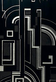 """Gaston SUISSE 1896-1988 Paravent """" Construction moderniste """" - C.1925"""