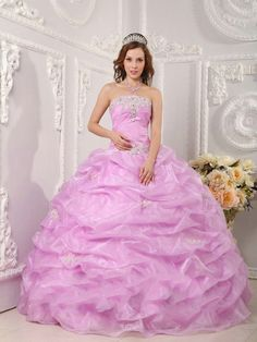 2014 Strapless Pick Up Skirt Lilac Quinceanera Dresses with Appliques Vestidos De 15 Anos Vintage Debutante Dresses Ball Gown  $159.00