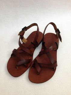 GENUINE LEATHER Handmade Sandals for men BRAS by BODRUMSANDALS, $98.00