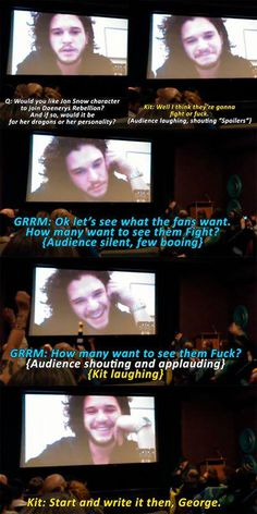 Kit Harington on Jon Snow and Daenerys