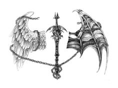 spine tattoo sword | Samurai Sword Free Designs Interesting And Wings Tattoo Wallpaper with ...