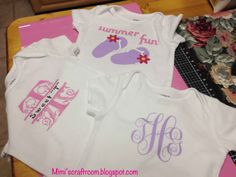 Decorate onsies with Cricut Explore