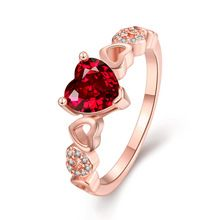 Ajojewel Brand 2016 New Arrival Romantic Red CZ Diamond Gold Plated Ruby Heart Ring Women Heart Engagement Rings, Engagement Jewelry, Heart Jewelry, Jewelry Rings, Heart Rings, Jewellery, Bridal Jewelry Sets, Wedding Jewelry, Bridal Sets