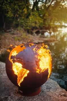 This looks like the globe..... it's a good reminder that our world is being burned by global warming