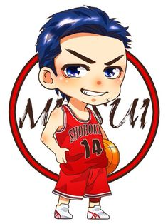 Mitsui Slam Dunk Anime, Chibi Characters, Lil Pump, Slammed, Character Design, Animation, Cartoon, Wallpaper, Drawings