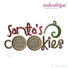Santa's Cookies - 7 Sizes! | Christmas | Machine Embroidery Designs | SWAKembroidery.com Embroitique