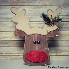 The Wood Connection - Reindeer Door Hang, $13.95 (http://thewoodconnection.com/reindeer-door-hang/)