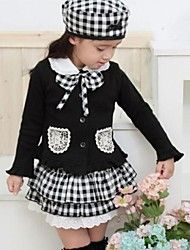 Girl's Grid (Coat+Skirt+Hat 3 Pieces) Clothing Se... – USD $ 18.92