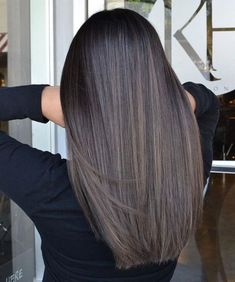 Black Coffee Hair With Ombre Highlights - 10 Cool Ideas of Coffee Brown Hair Color - The Trending Hairstyle Brown Hair Balayage, Brown Blonde Hair, Hair Color For Black Hair, Light Brown Hair, Hair Color Balayage, Brown Hair Colors, Brunette Hair, Hair Highlights, Blue Brown Hair
