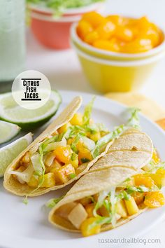 Citrus Fish Tacos - Taste and Tell | Extract maximum citrus flavor with the Tupperware #zestnpress