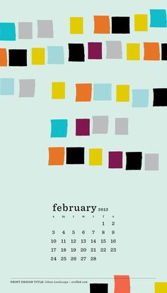 2013 Calendar Limited Edition 4 x 7 colorful hand by erinflett, $18.00