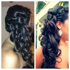 Hair with braids & curls