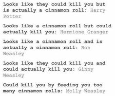 Harry Potter cinnamon rolls