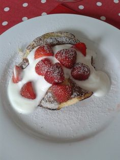 Syn free pancakes with natural yoghurt and strawberries. 1 egg, 1tsp vanilla essence, 6 tbls sweetener (I only used 4). Separate yolk from white. Mix essence and sweetener in yolk. Whisk white until stiff then gently mix into yolk. Spray small frying pan with frylight. Pour into middle of pan and spread evenly. Turn after a minute or so. Makes two pancakes :)