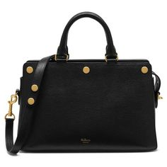 Women's Mulberry Chester Leather Satchel (21 600 ZAR) ❤ liked on Polyvore featuring bags, handbags, black, genuine leather handbags, real leather handbags, structured leather handbags, real leather purses and leather satchel purse