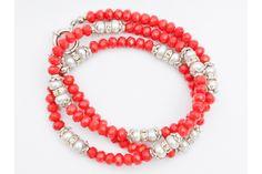 Brățară handmade Coral roșu și Perle de cultură