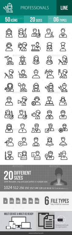 Professionals Line Icons